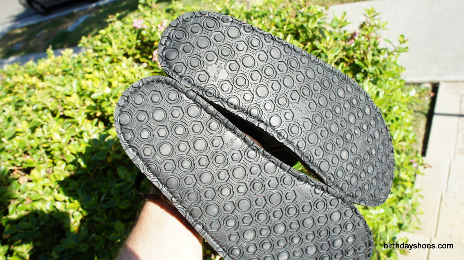 The Geo sole with it's geometric tread design.