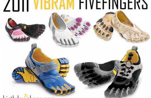 The 2011 Vibram Five Fingers new toe shoes: Kids KSOs, Jaya, Jaya LR, Komodo Sport and Bikila LS!