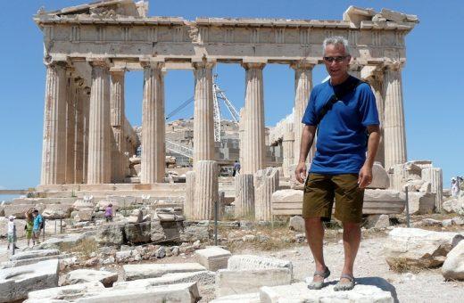 Hiking around the Acropolis. (Parthenon-Athens, Greece)