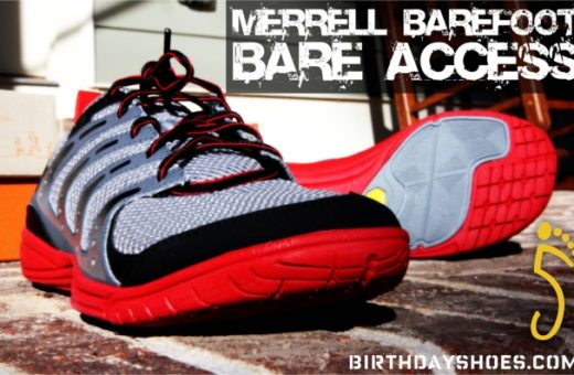 """The Merrell Barefoot Bare Access is a zero-dropped """"transition"""" shoe from Merrell intended to be used as an intermediate tool to go from regular, heel-lifted and more cushioned running shoes to a more minimally soled, cushion-less shoe."""