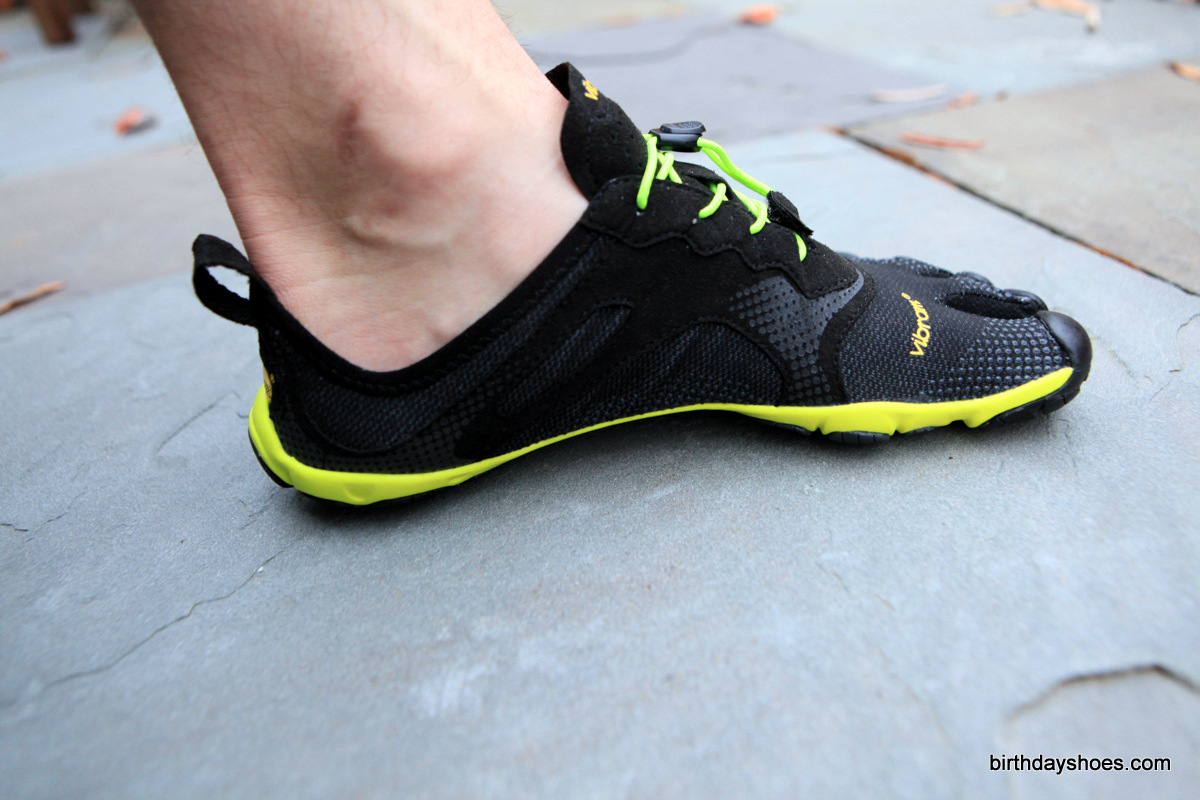 Note how low the heel goes on the Bikila EVO.