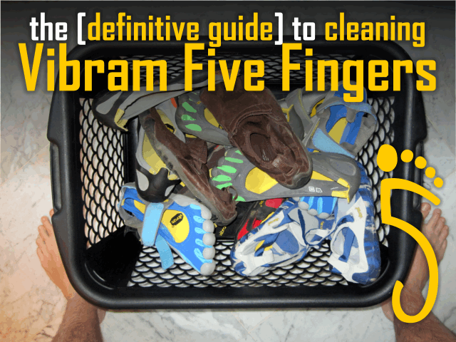 A massive load of Vibram Five Fingers (Plus some Injinji socks!) ready to be thrown in the washing machine. All models of Vibram Five Fingers are machine-washable (though should only be left out to air dry).
