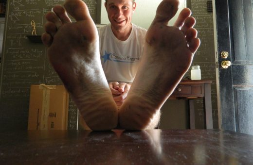 After one of my early, more successful barefoot runs.