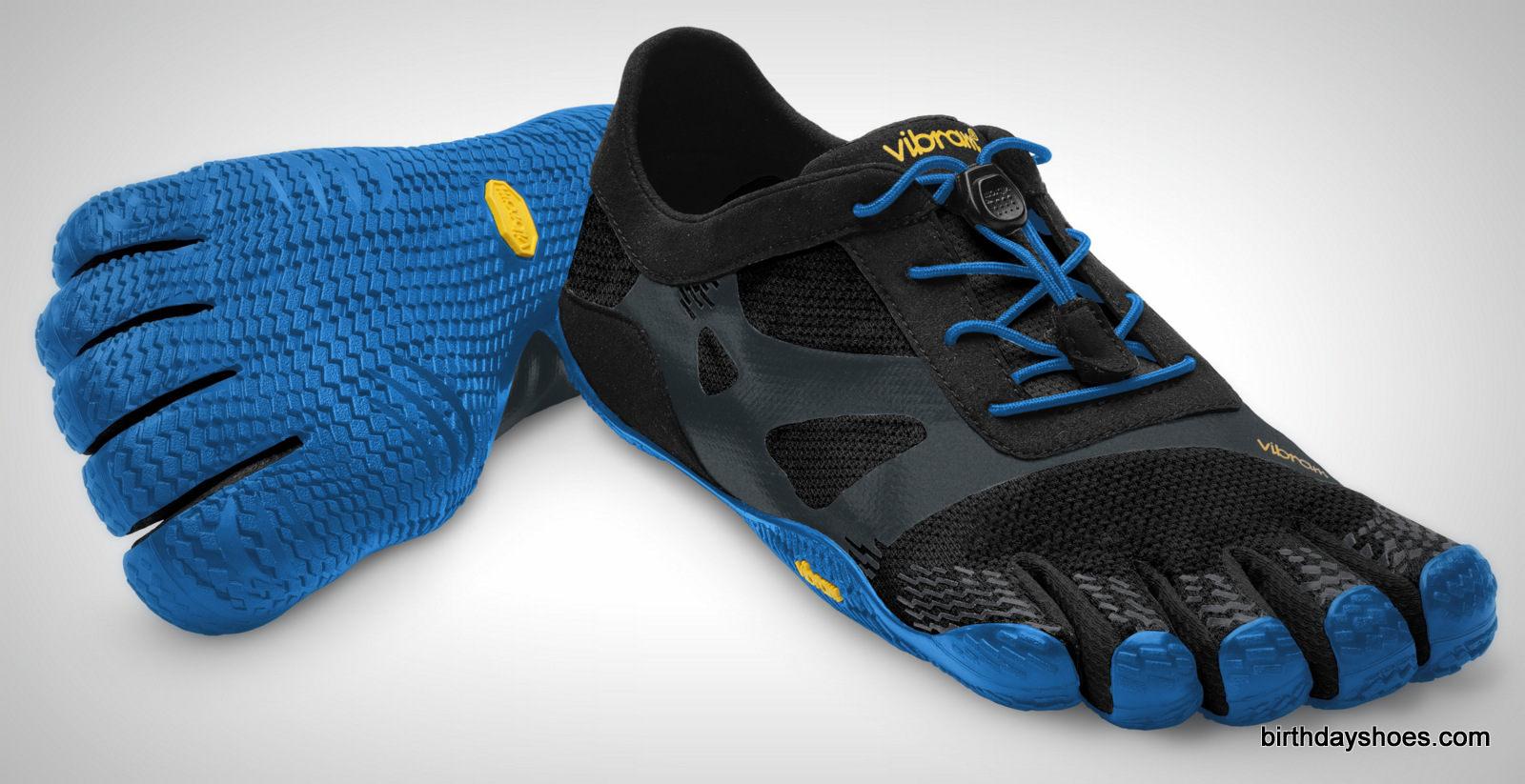 The KSO EVO FiveFingers seen in a men's blue and black colorway.