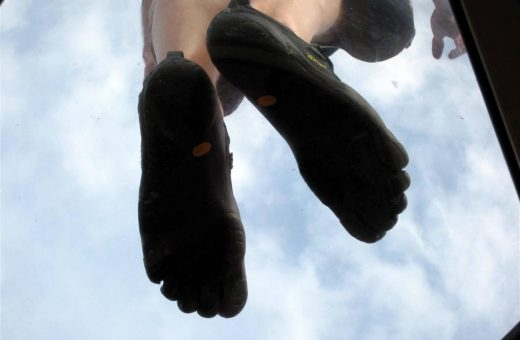 FiveFingers are so amazing that you can levitate in them!