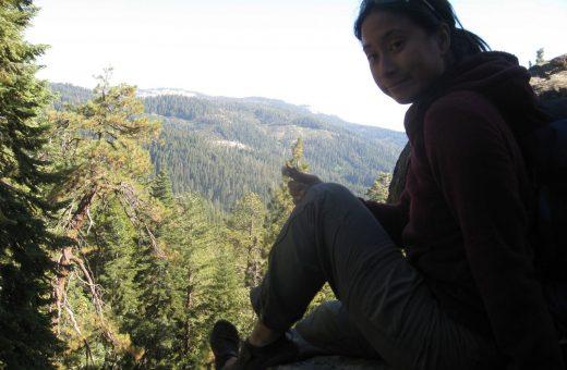 Justine at Lake Tahoe in her KSO Treks.