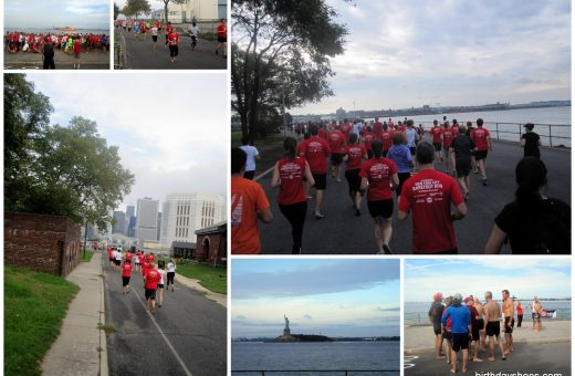 Various photos from the 2011 NYC Barefoot Run on September 25, 2011, on Governor's Island.