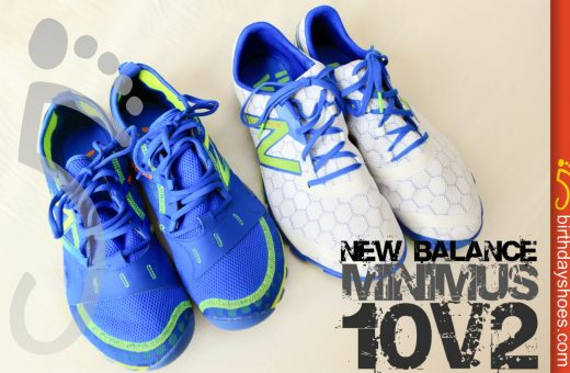 Above are the New Balance Minimus 10v2 Trail (left) and 10v2 (right)
