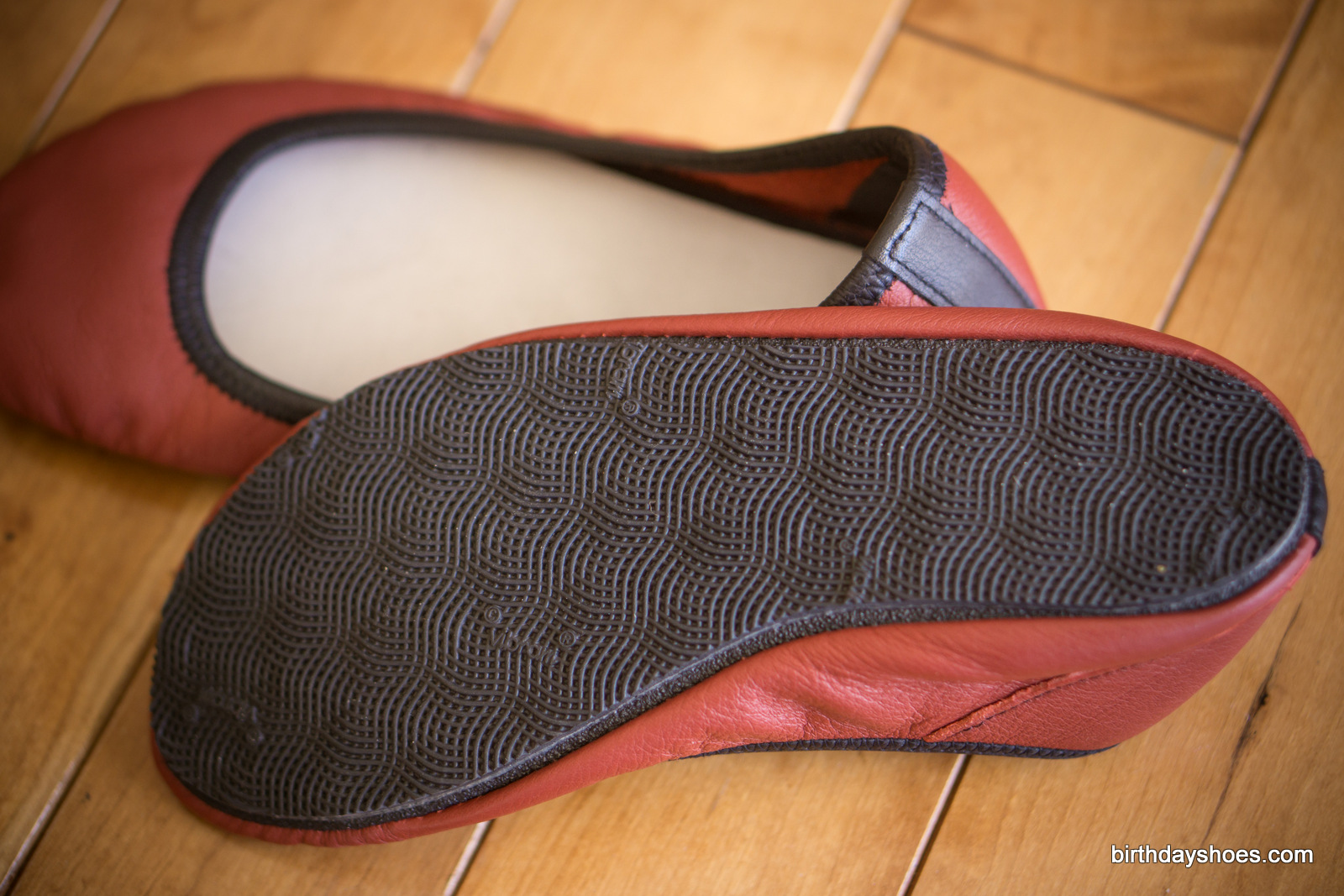 Vibram Cherry as seen on a pair of Soft Star Shoes Ballerine Flats