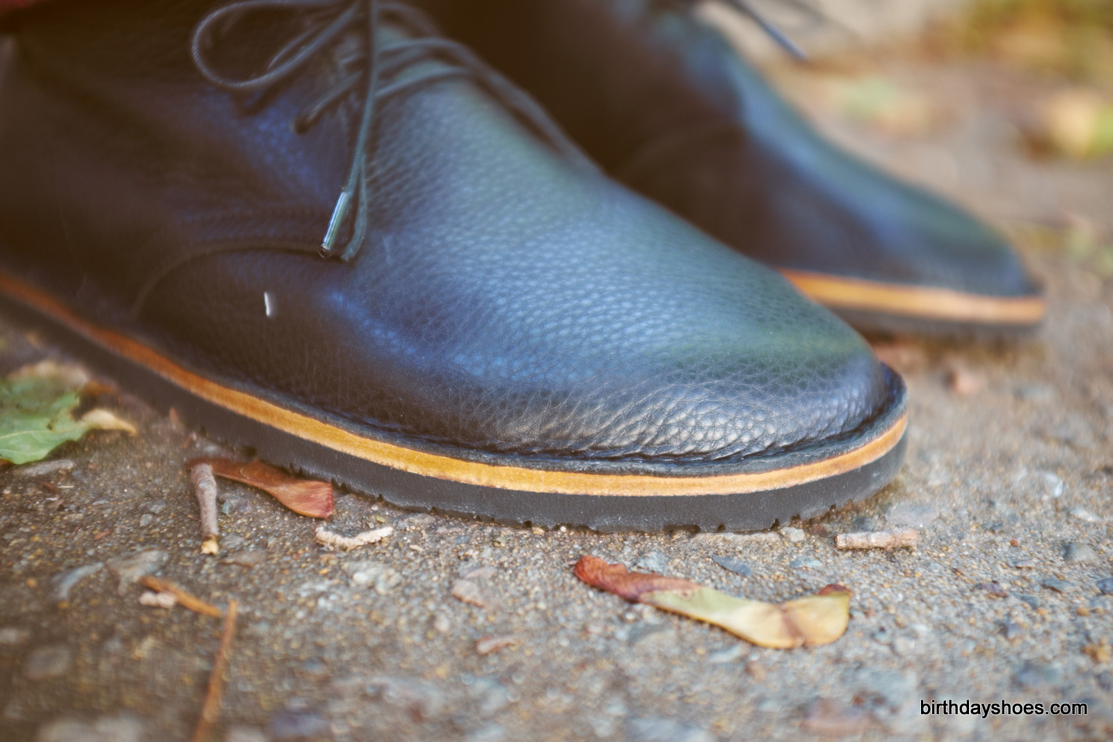 The layered sole of the Hawthorne features a leather midsole an replaceable Vibram Geo sole