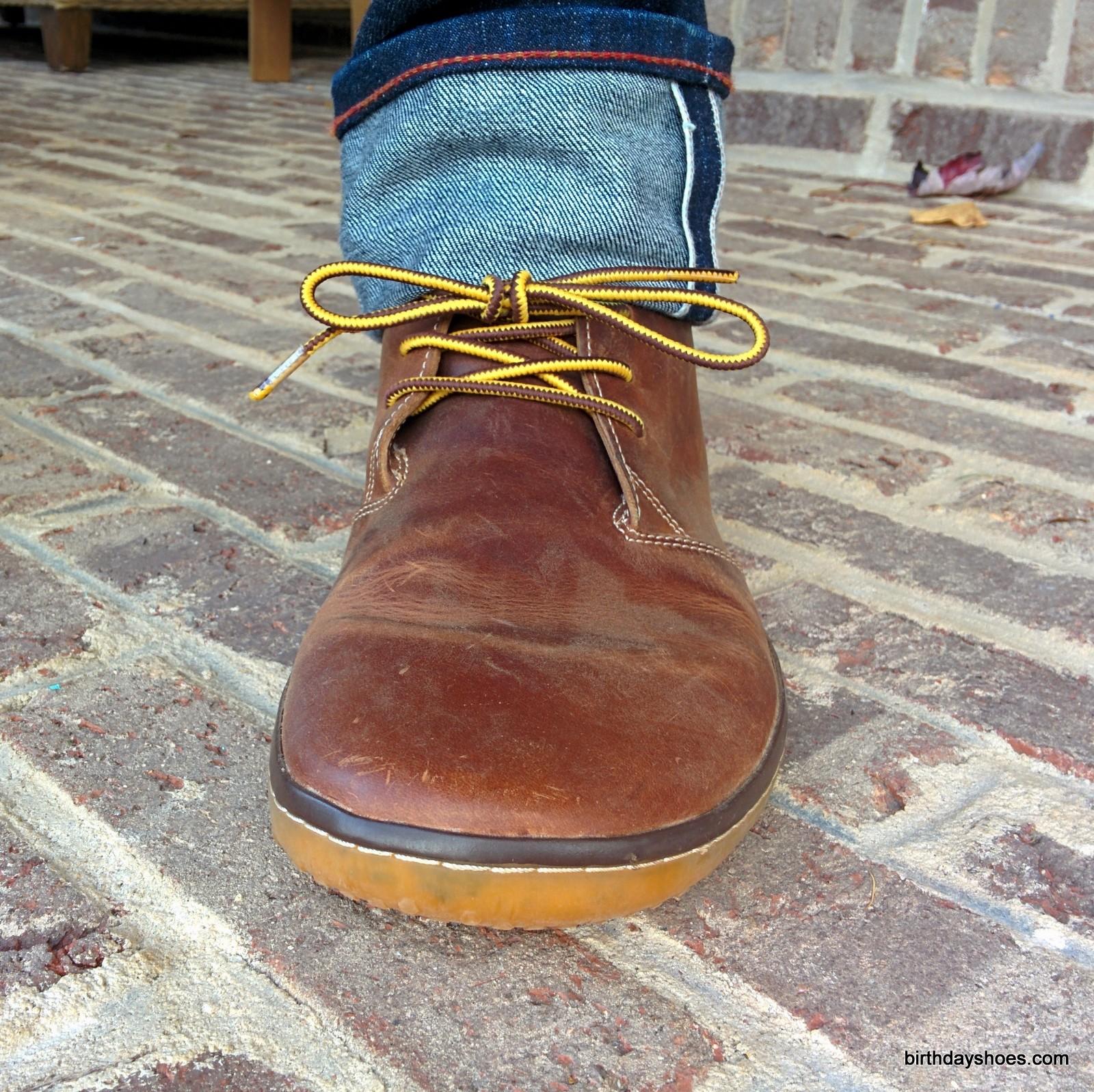 VivoBarefoot Gobi paired with Gustin Sixteener jeans.
