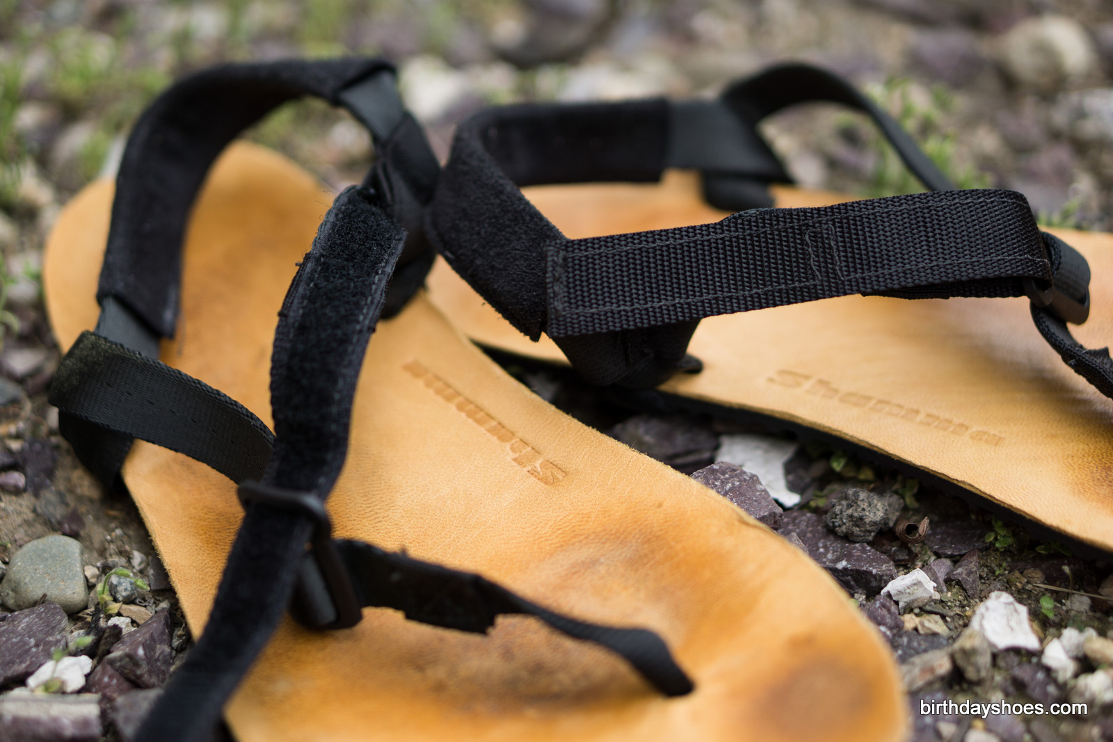 The Shamma Sandals Warrior, showing the velcro strap system.