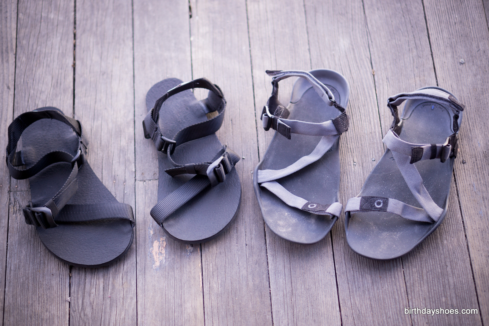 On the left is the Pah Tempe from Unshoes and on the right is the Xero Z-Trek