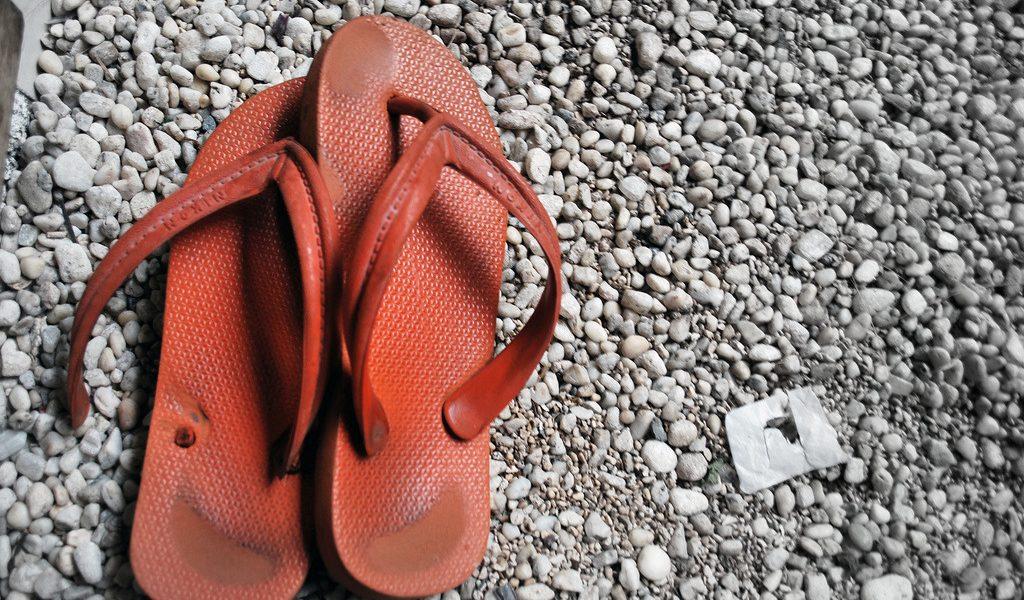 Broken flip-flops