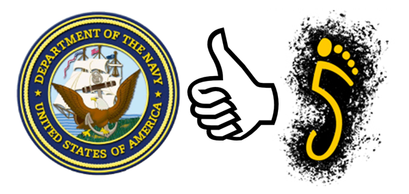 """The Navy has said """"yes"""" to toe shoes like Vibram FiveFingers, as well as other minimalist or barefoot-like shoes for wear with various physical training!  Thumbs up, Navy!"""