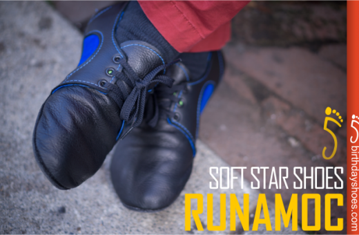 The SoftStar RunAmoc Dash with Bullhide leather soles!