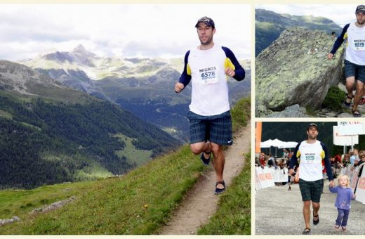 Stéphane Running the Sierre-Zinal