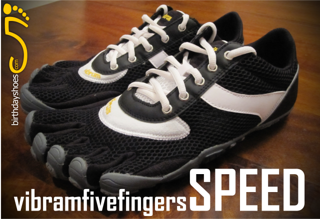 The Vibram Five Fingers Speed, the first-ever laced pair of Five Fingers, new for Spring 2010, and only available from retailers in Europe and the United Kingdom.