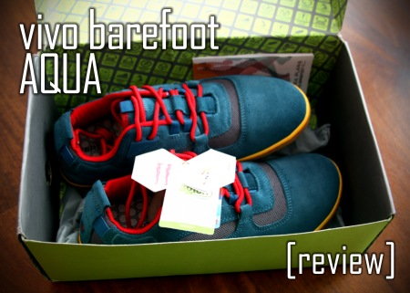 Above, in the box, is a pair of Terra Plana Vivo Barefoot Aquas.  Nice packaging for a nice barefoot shoe alternative to Vibram Five Fingers.