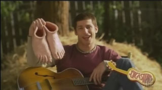 Andy Samberg as Jack Johnson singing about JJ Casuals, shoes that look like feet